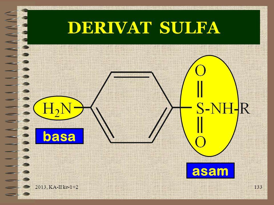 DERIVAT SULFA basa asam 2013, KA-II ke-1+2