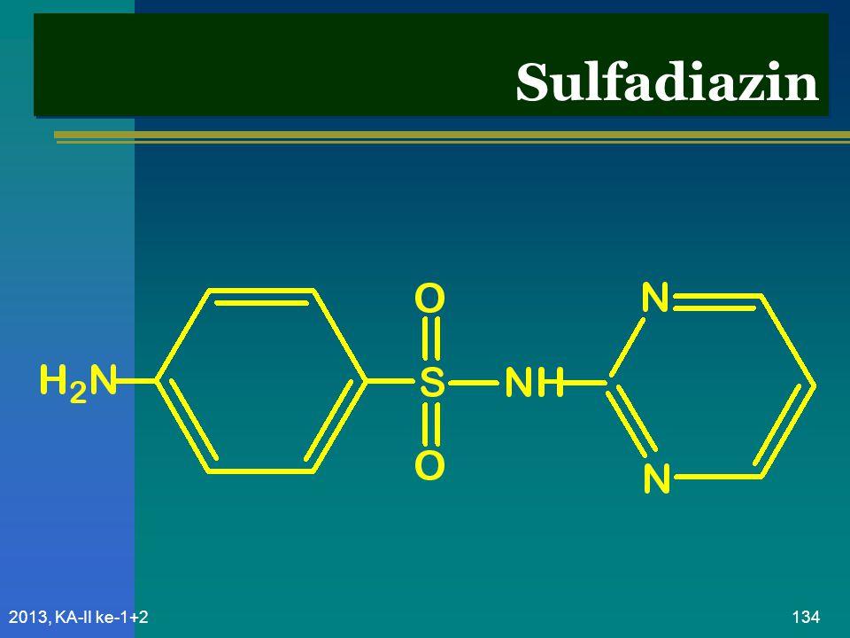 Sulfadiazin 2013, KA-II ke-1+2