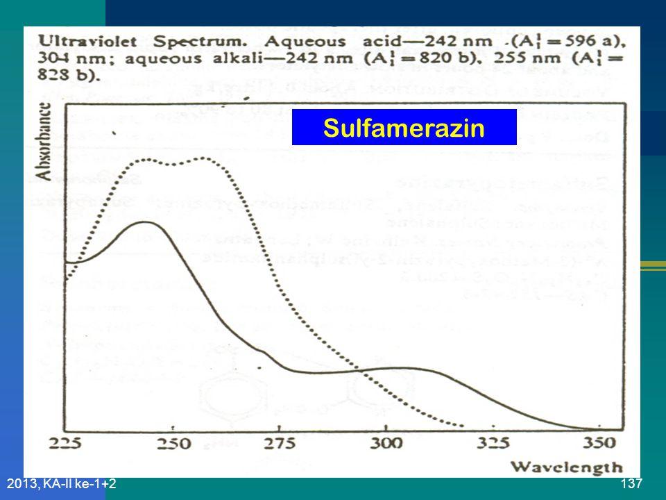 Sulfamerazin 2013, KA-II ke-1+2