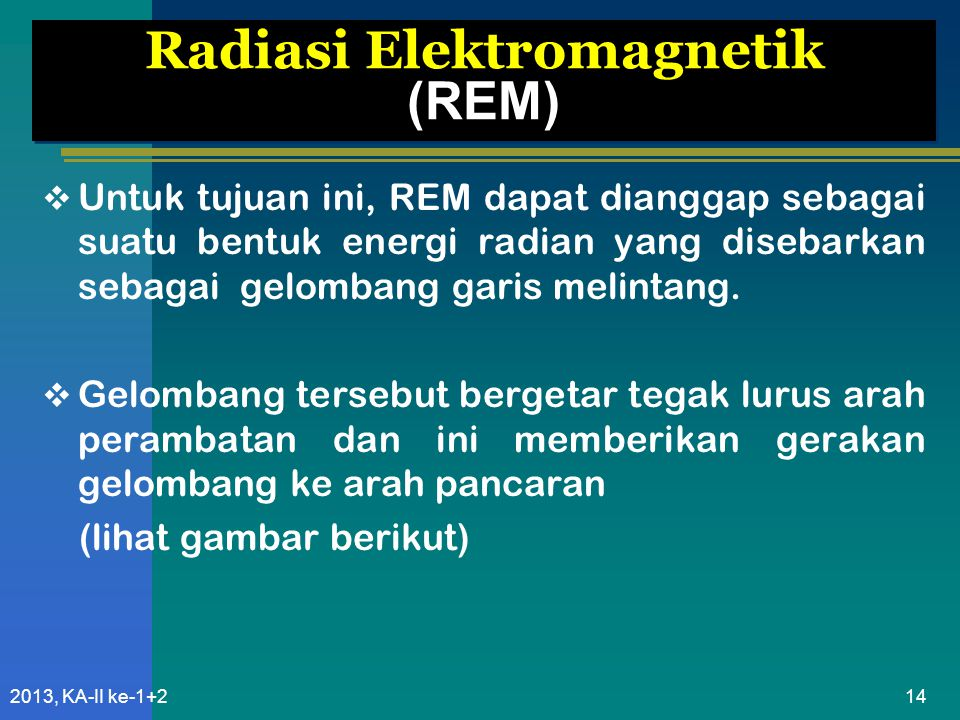 Radiasi Elektromagnetik (REM)