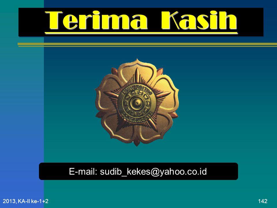 Terima Kasih E-mail: sudib_kekes@yahoo.co.id 2013, KA-II ke-1+2