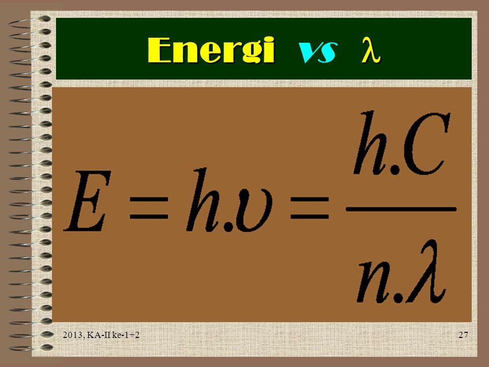 Energi vs  2013, KA-II ke-1+2