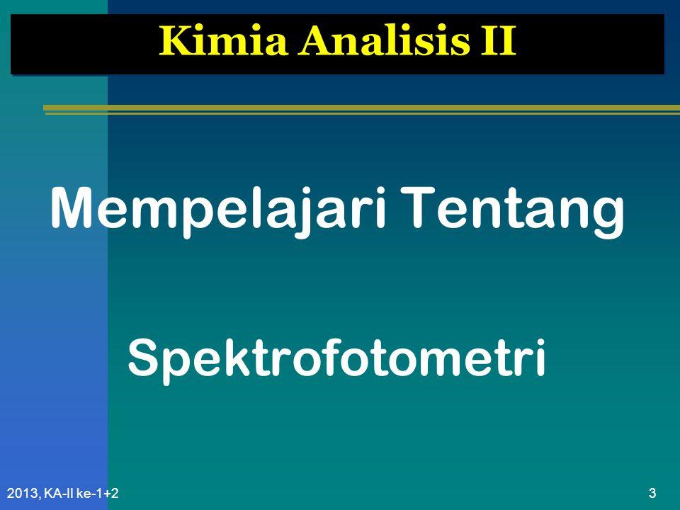 Mempelajari Tentang Spektrofotometri Kimia Analisis II