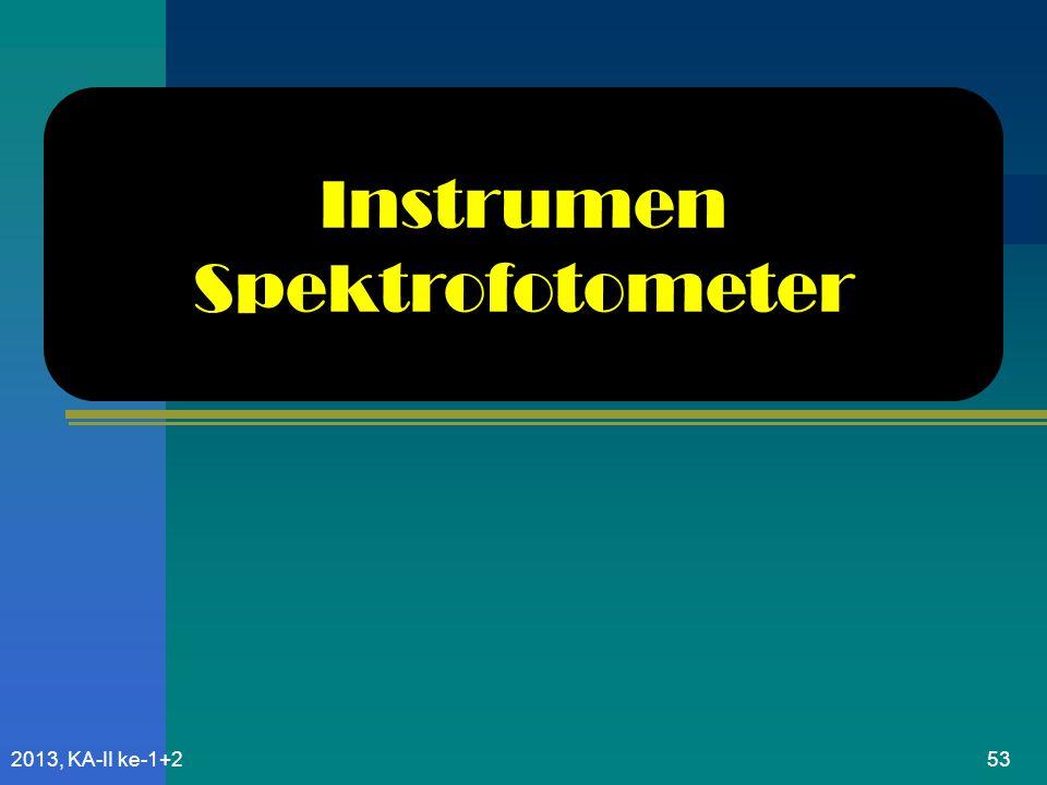 Instrumen Spektrofotometer