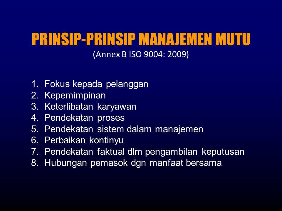 PRINSIP-PRINSIP MANAJEMEN MUTU
