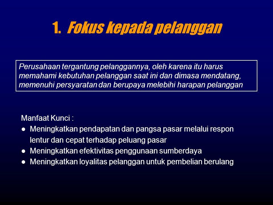 1. Fokus kepada pelanggan