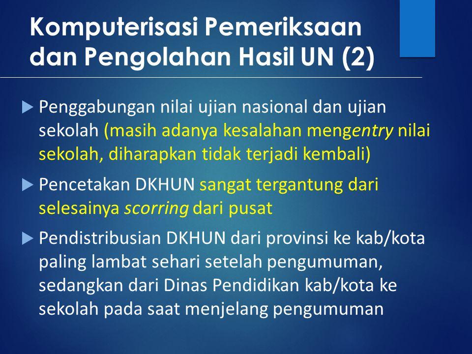 Komputerisasi Pemeriksaan dan Pengolahan Hasil UN (2)