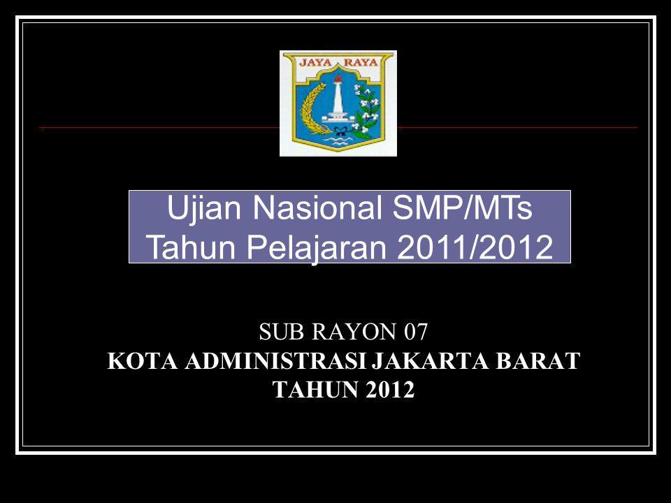 SUB RAYON 07 KOTA ADMINISTRASI JAKARTA BARAT TAHUN 2012