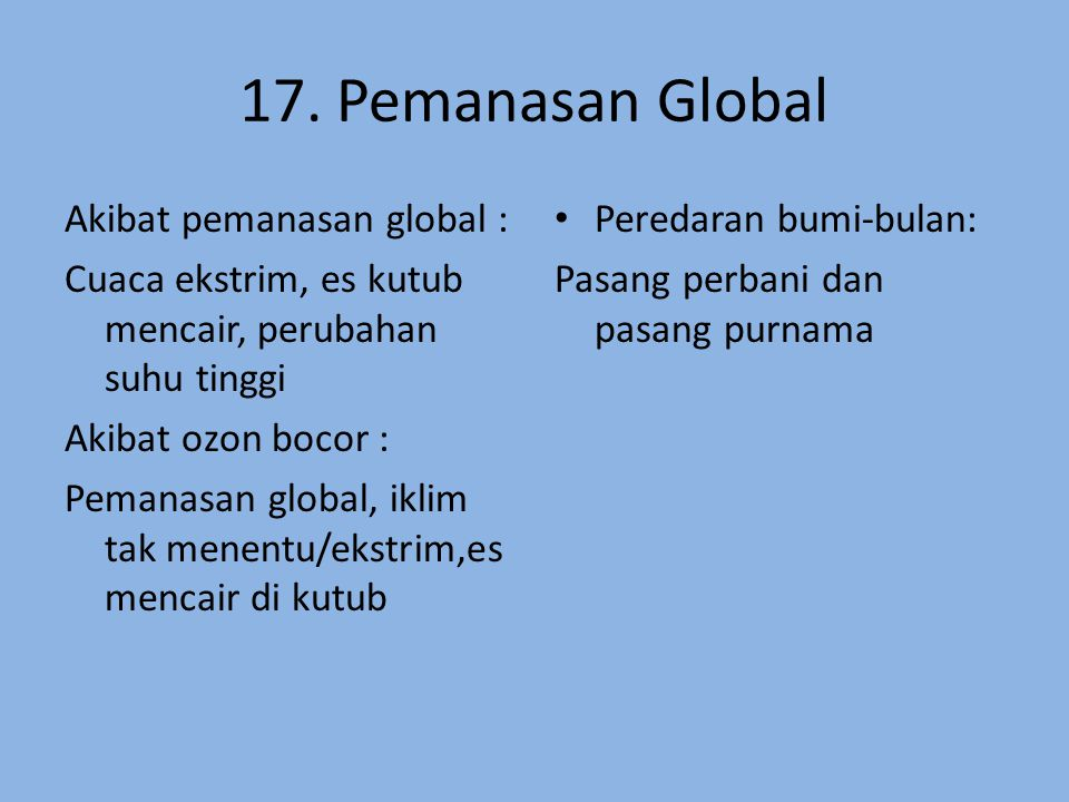 17. Pemanasan Global