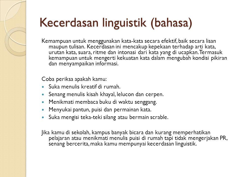 Kecerdasan linguistik (bahasa)