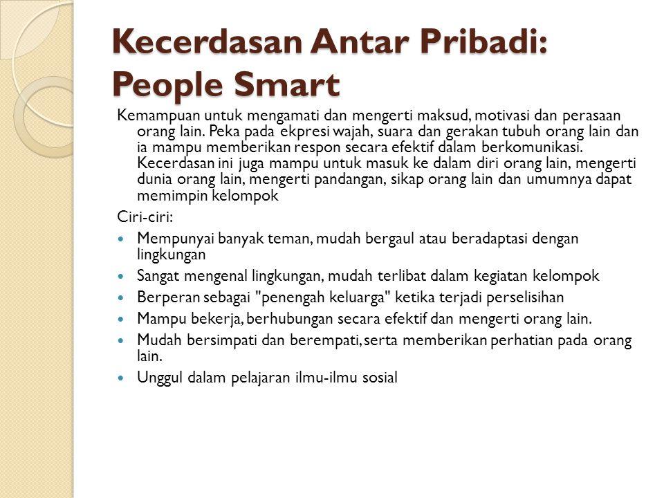 Kecerdasan Antar Pribadi: People Smart