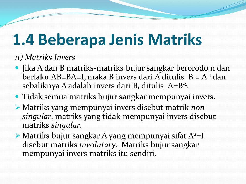 1.4 Beberapa Jenis Matriks