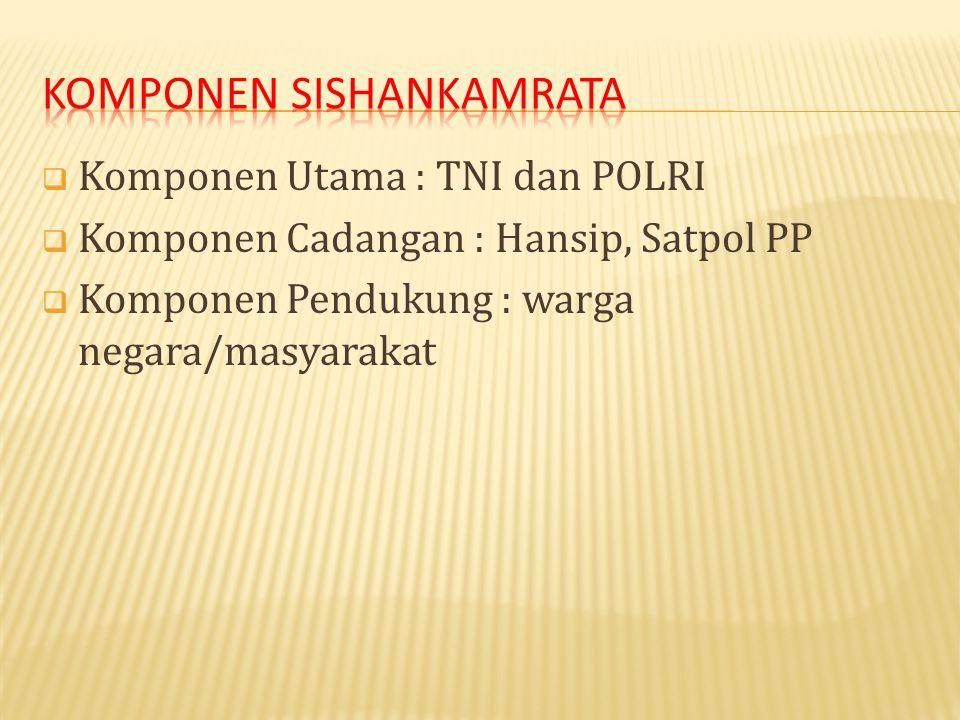 Komponen Sishankamrata