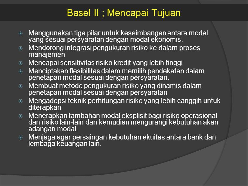 Basel II ; Mencapai Tujuan
