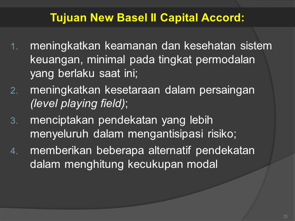 Tujuan New Basel II Capital Accord: