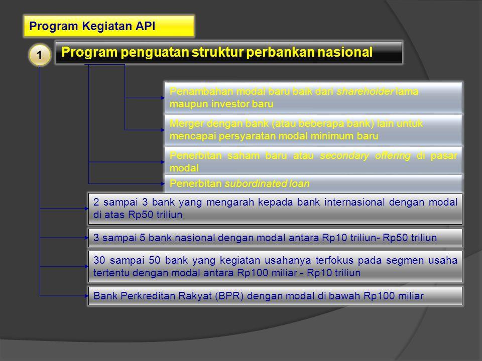 Program penguatan struktur perbankan nasional