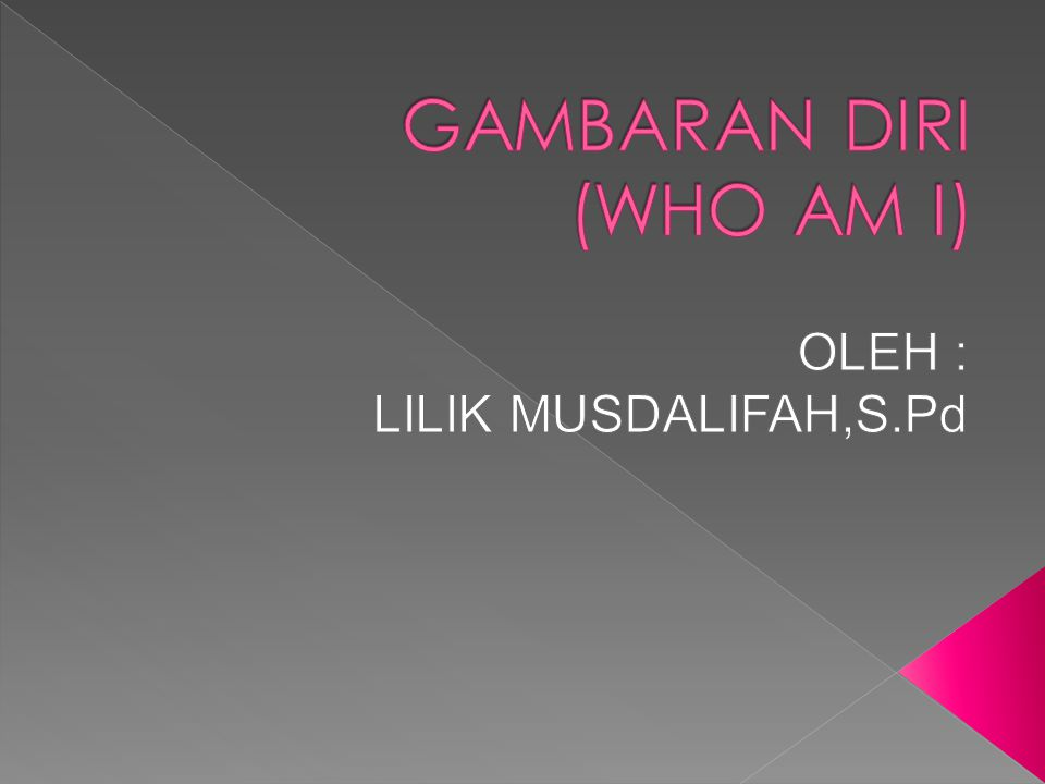 GAMBARAN DIRI (WHO AM I)