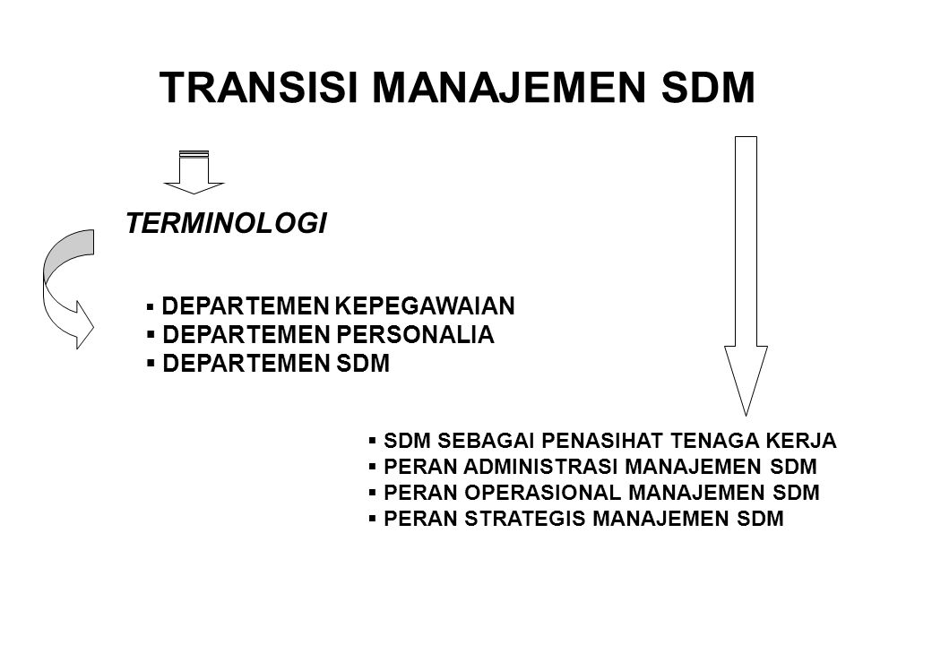 TRANSISI MANAJEMEN SDM