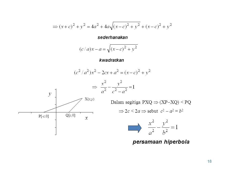 Dalam segitiga PXQ  (XPXQ) < PQ