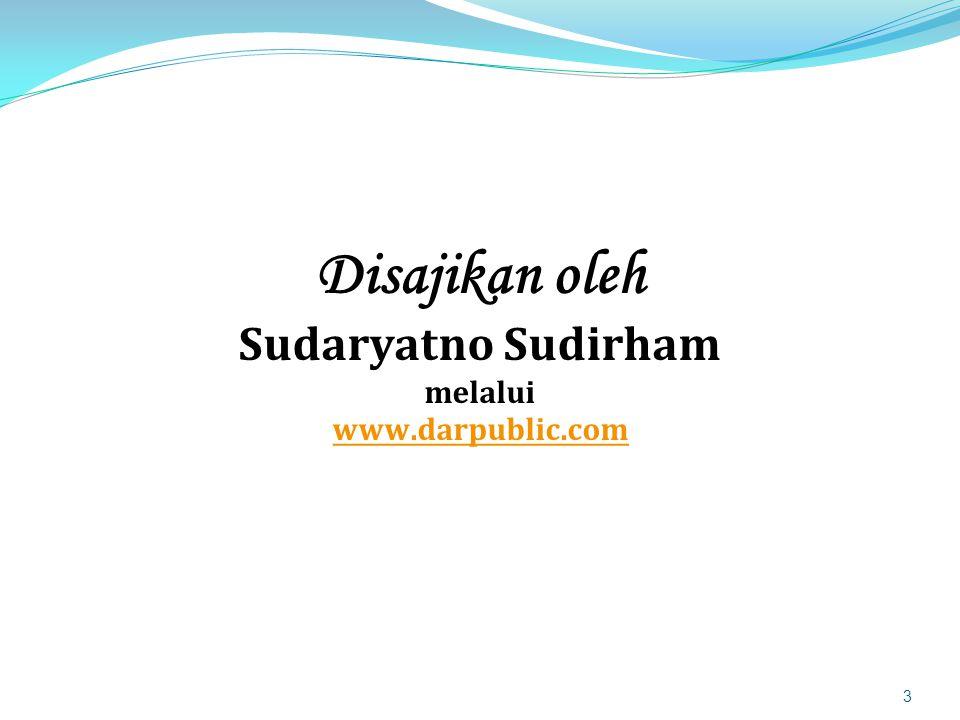 Disajikan oleh Sudaryatno Sudirham melalui www.darpublic.com