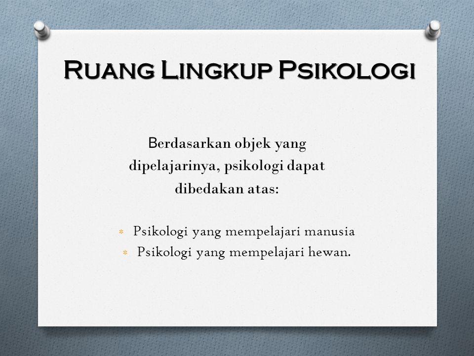 Ruang Lingkup Psikologi