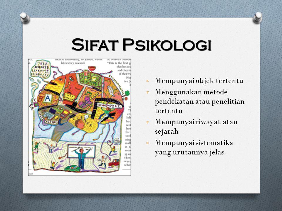 Sifat Psikologi Mempunyai objek tertentu
