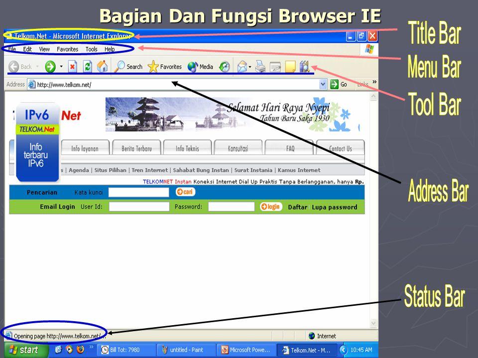 Bagian Dan Fungsi Browser IE