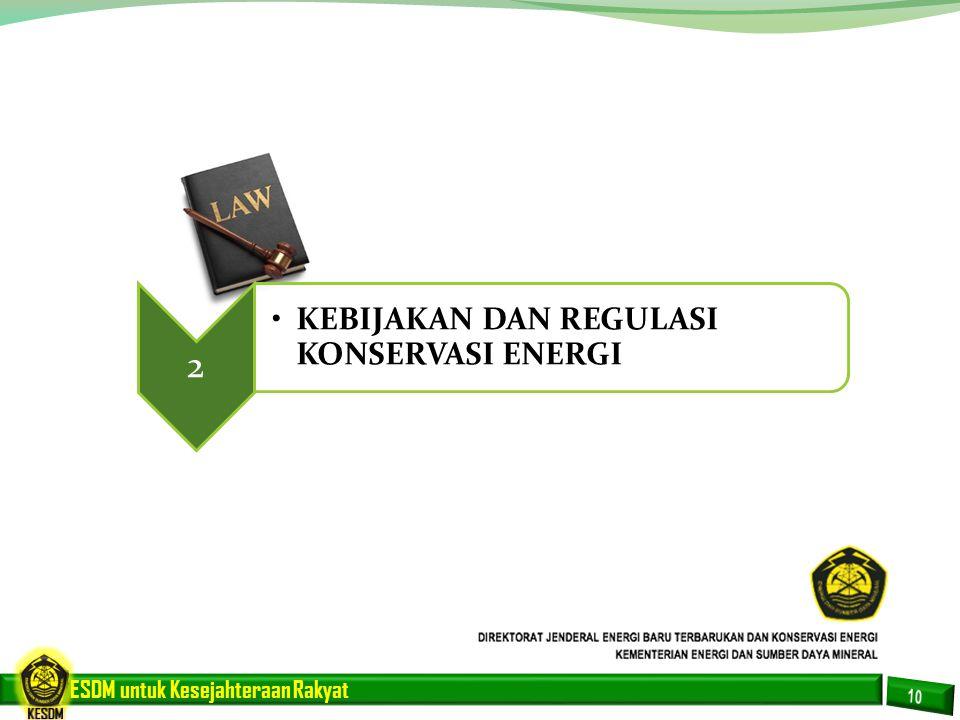2 KEBIJAKAN DAN REGULASI KONSERVASI ENERGI