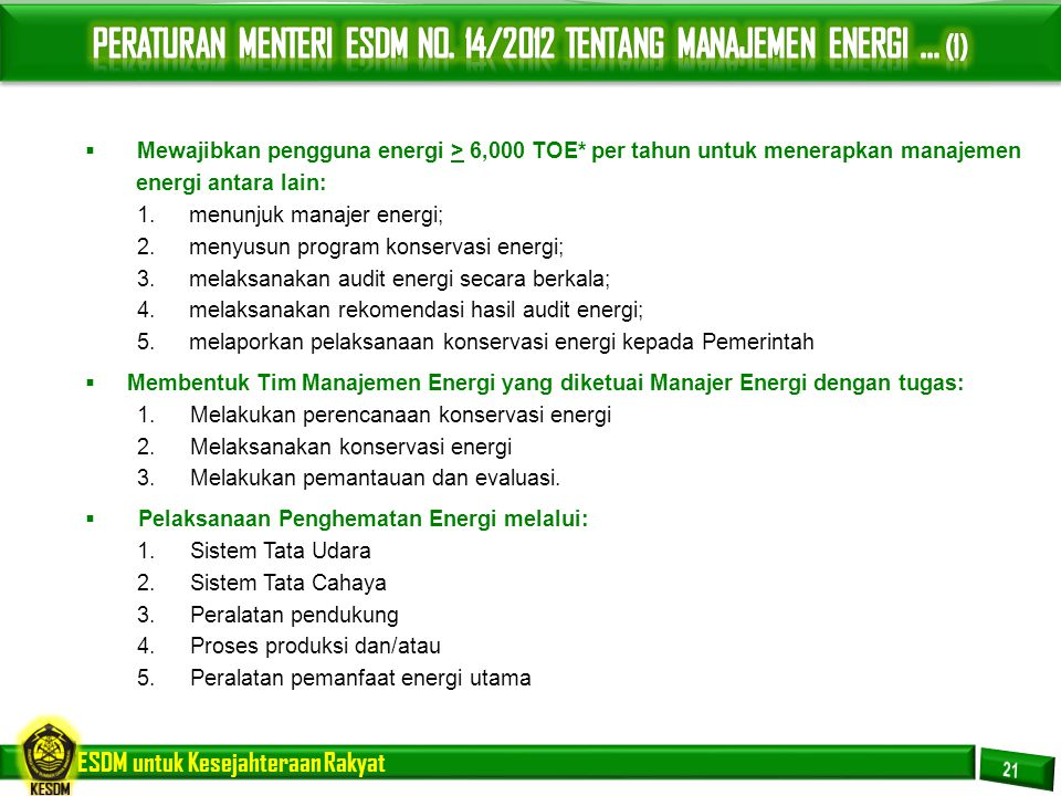 PERATURAN MENTERI ESDM NO. 14/2012 TENTANG MANAJEMEN ENERGI ... (1)