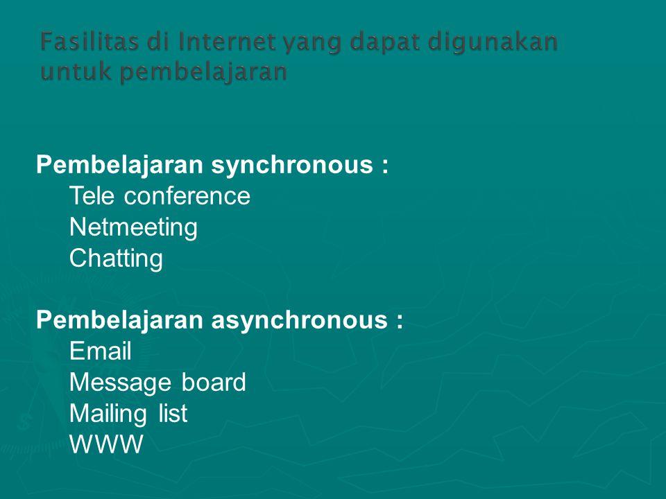 Pembelajaran synchronous :