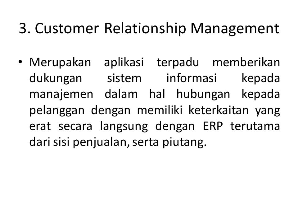 3. Customer Relationship Management