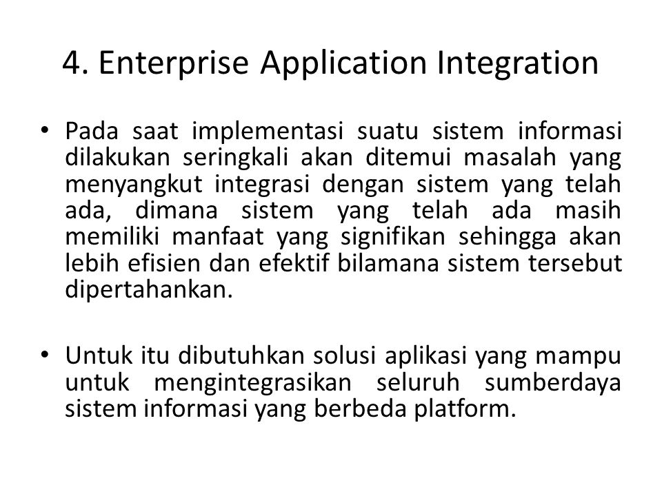 4. Enterprise Application Integration