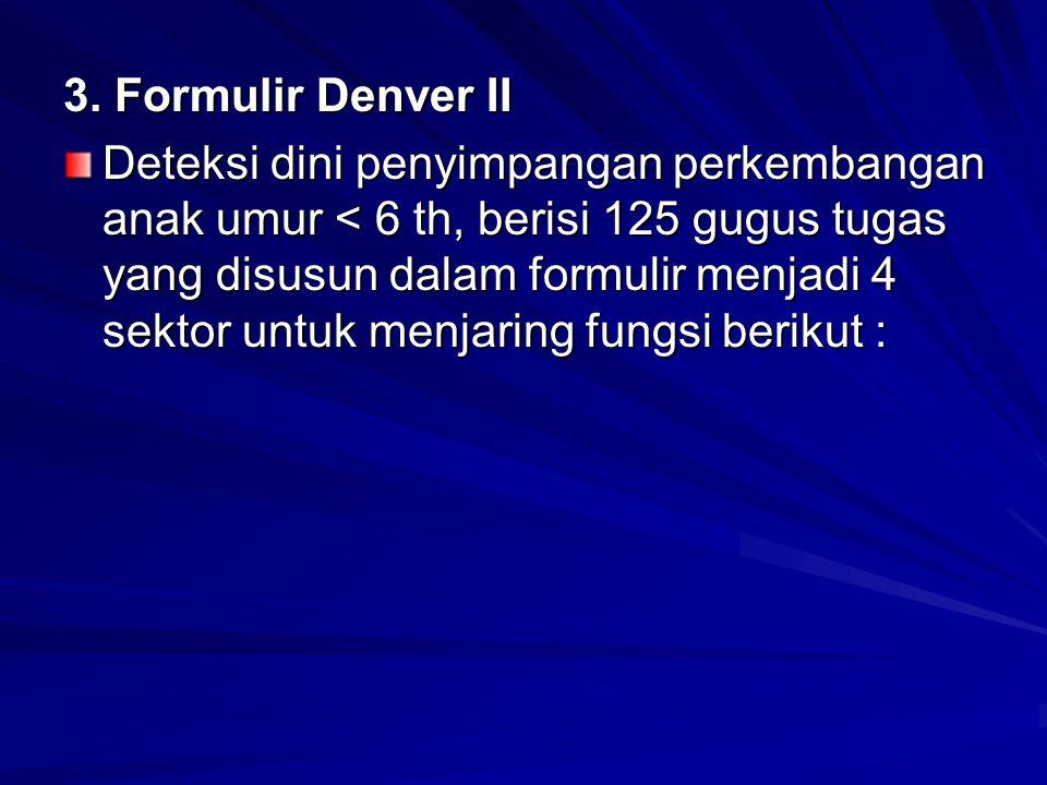 3. Formulir Denver II