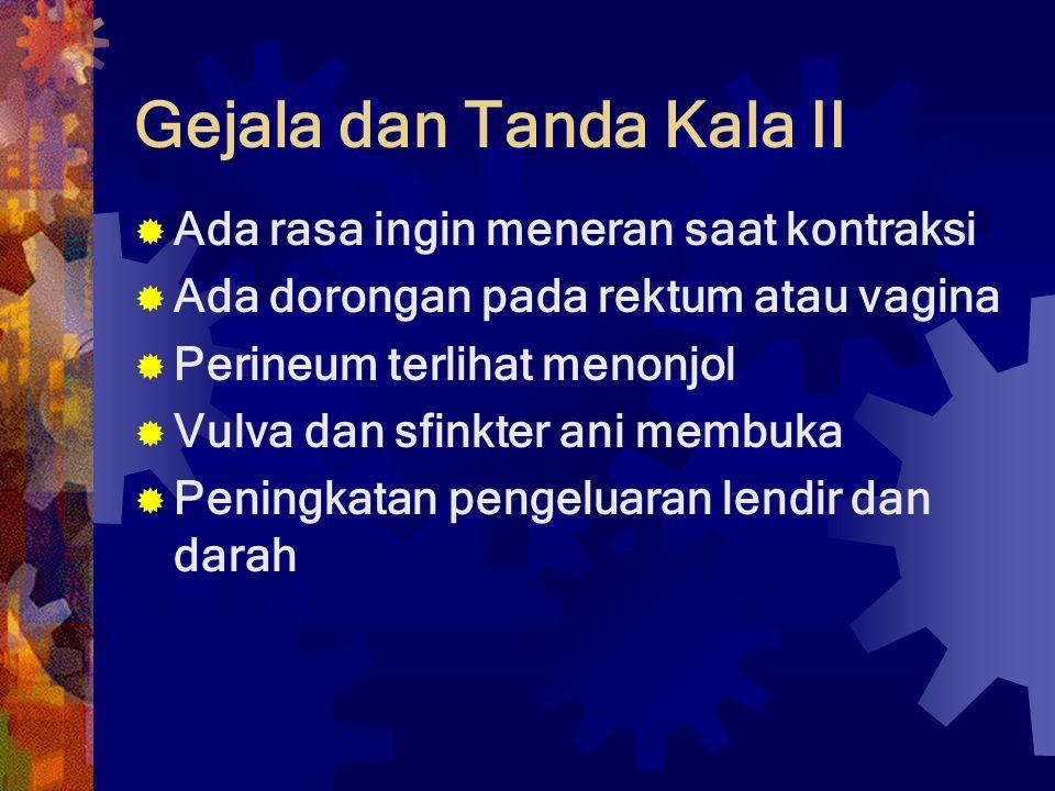 Gejala dan Tanda Kala II