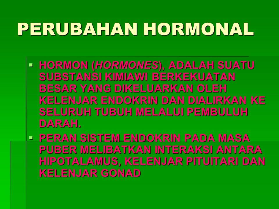 PERUBAHAN HORMONAL