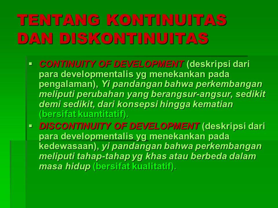 TENTANG KONTINUITAS DAN DISKONTINUITAS