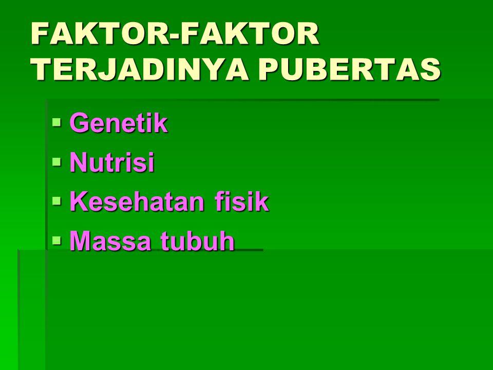 FAKTOR-FAKTOR TERJADINYA PUBERTAS