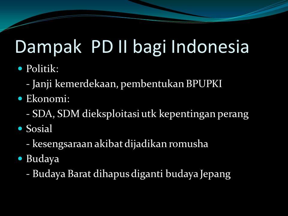 Dampak PD II bagi Indonesia
