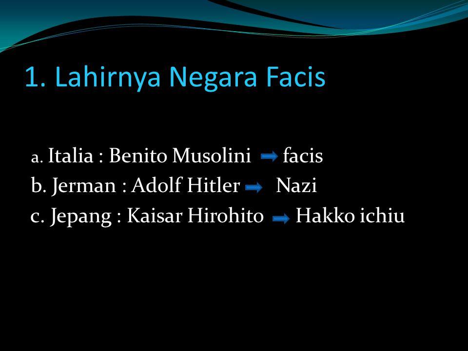 1. Lahirnya Negara Facis b. Jerman : Adolf Hitler Nazi