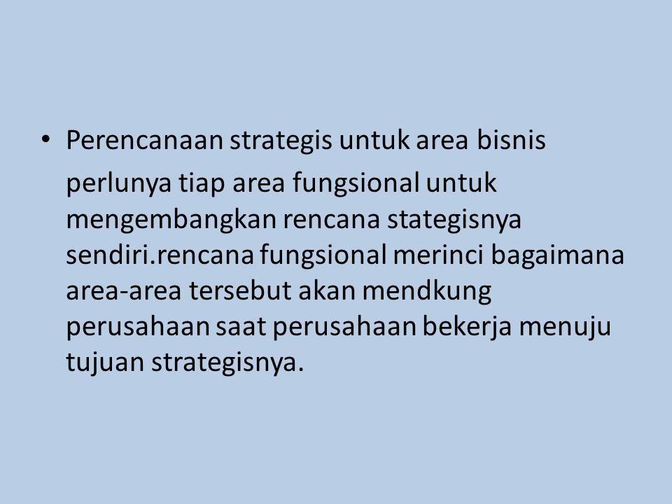 Perencanaan strategis untuk area bisnis