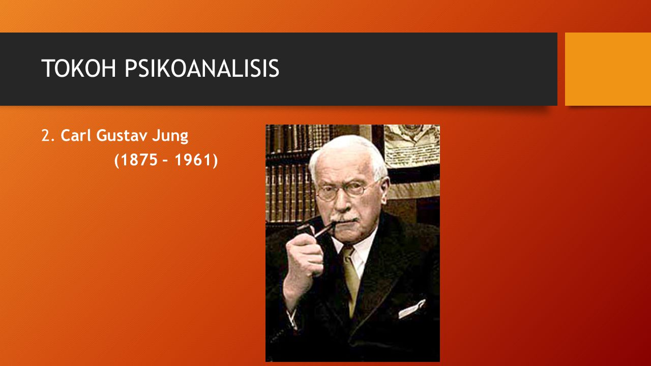 TOKOH PSIKOANALISIS 2. Carl Gustav Jung (1875 – 1961)