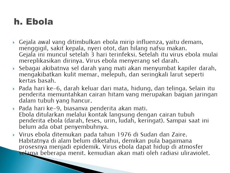 h. Ebola