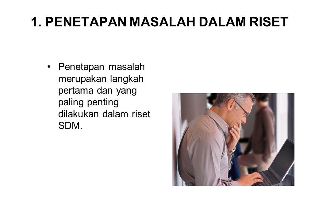 1. PENETAPAN MASALAH DALAM RISET