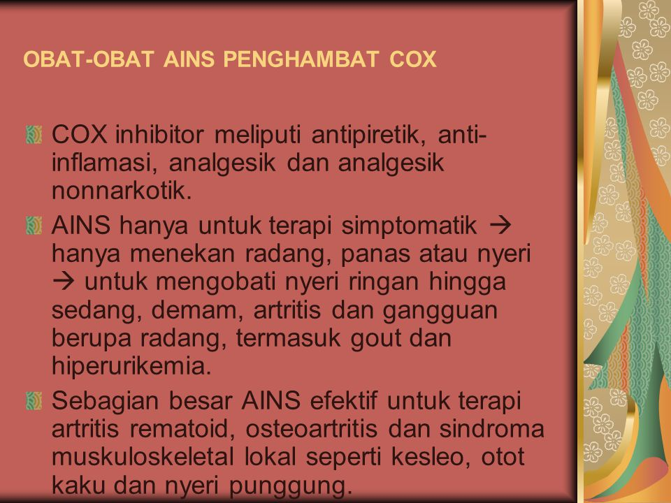 OBAT-OBAT AINS PENGHAMBAT COX