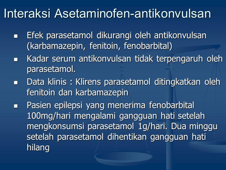 Interaksi Asetaminofen-antikonvulsan