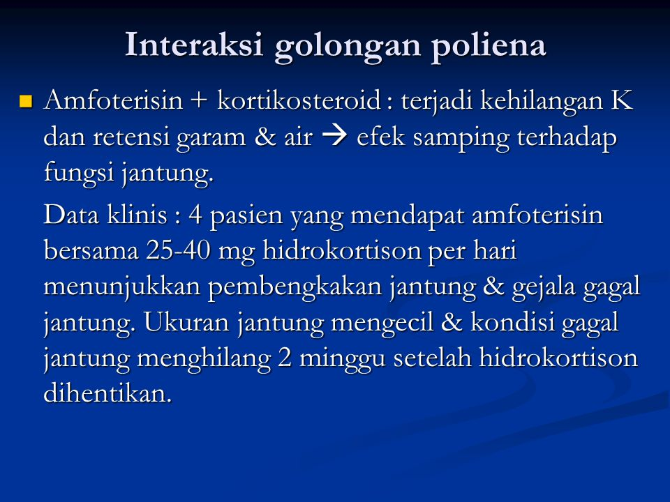 Interaksi golongan poliena