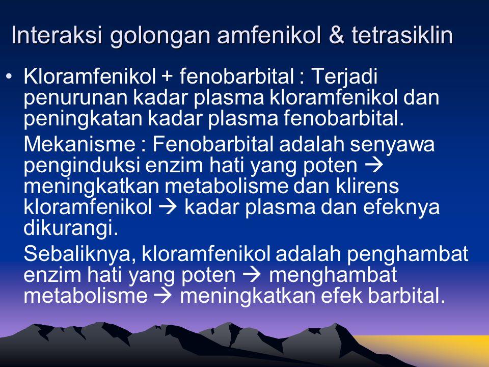 Interaksi golongan amfenikol & tetrasiklin