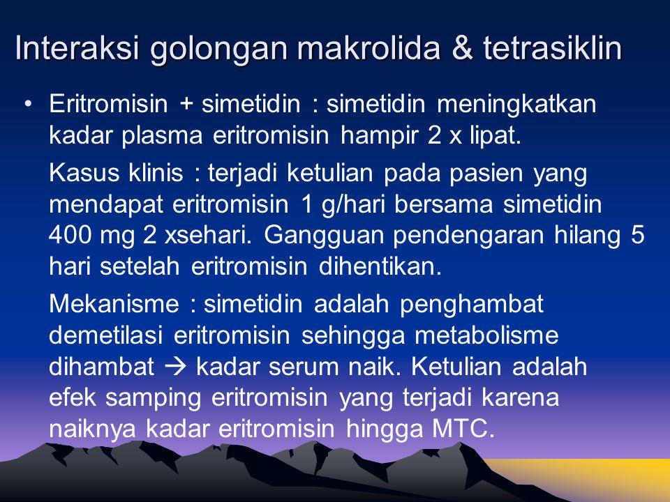 Interaksi golongan makrolida & tetrasiklin