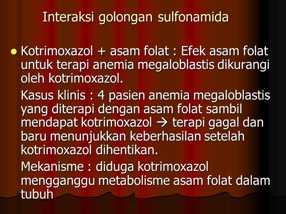 Interaksi golongan sulfonamida