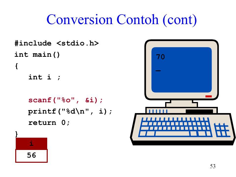 Conversion Contoh (cont)